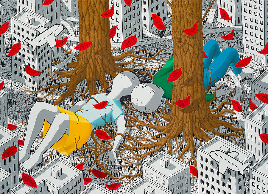 """Millo, """"At the Crack of Dawn"""" Thinkspace Projects"""