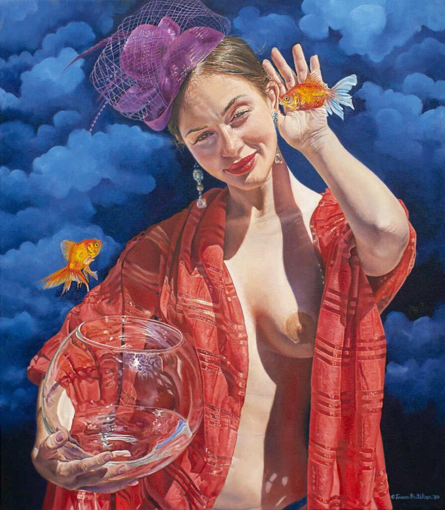 Teresa Elizabeth Bruther Erlo nude woman with goldfish