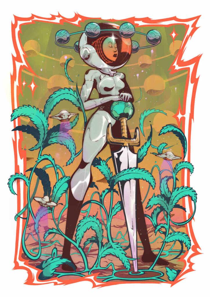 Tony Riff space astronaut gardening High Art 2021