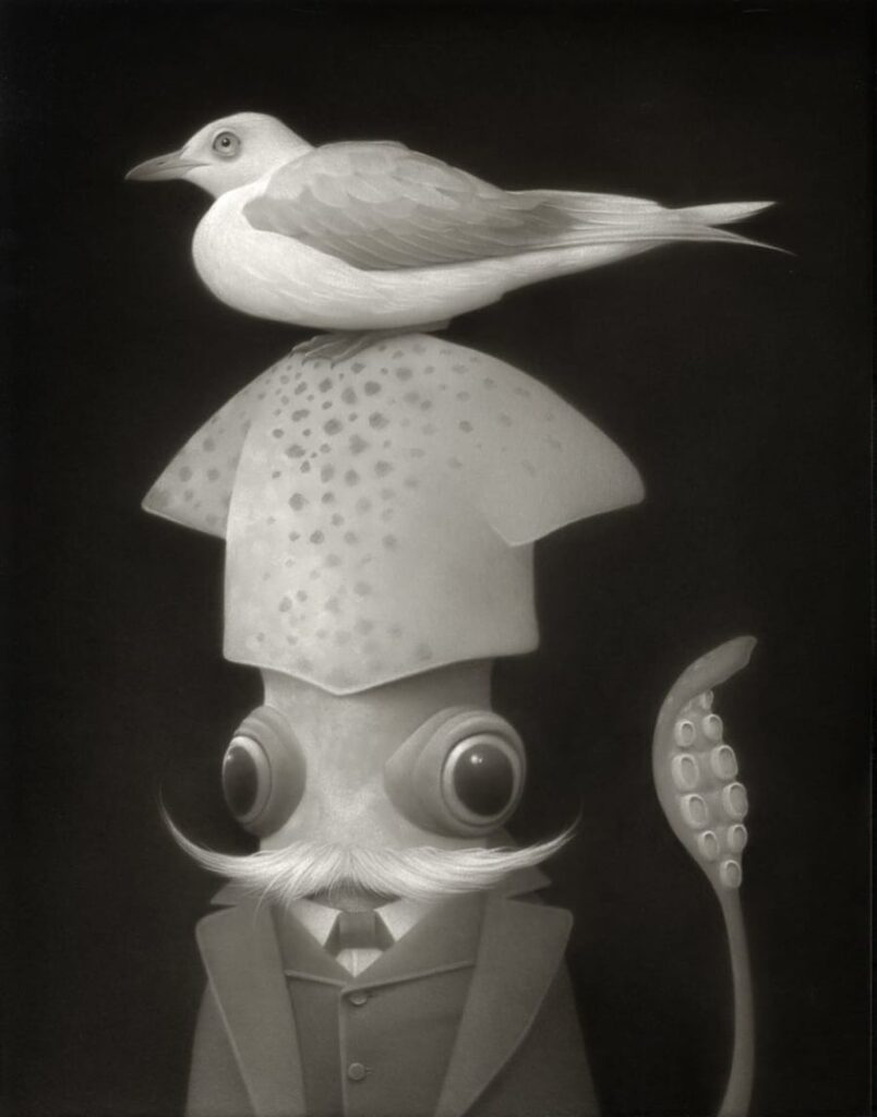 Travis Louie surreal animal portraits