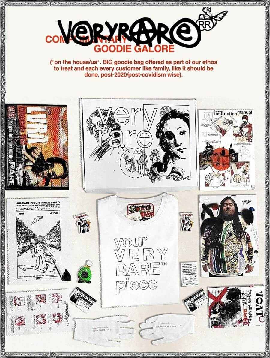 VERYRARE Raf Reyes Artwear Complementary Goodie Galore