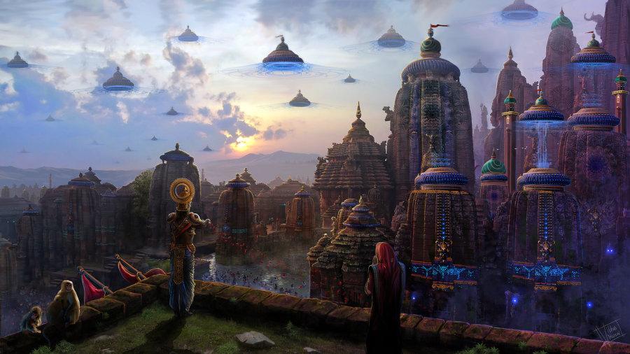 Vibhas Virwani fantasy landscape