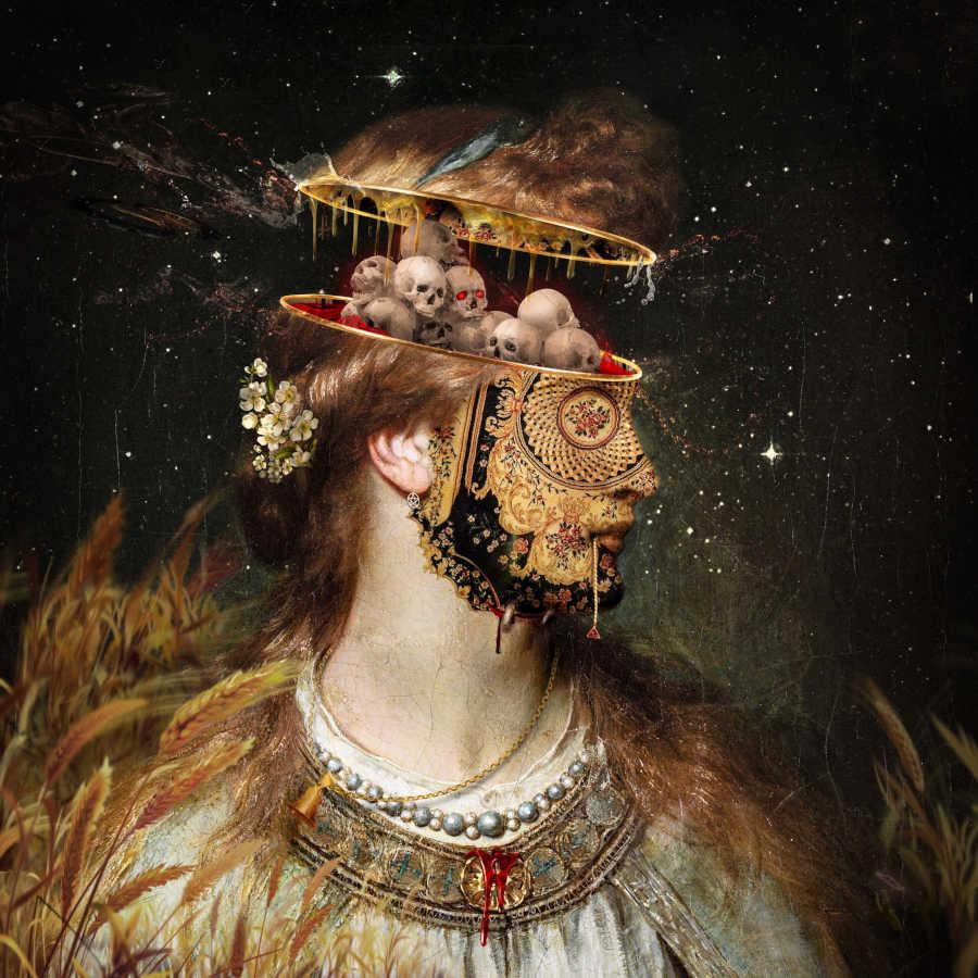 olipoe surreal digital collage portrait