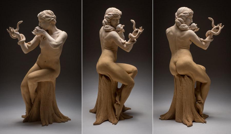 Kristine and Coline Poole nude woman sculpture