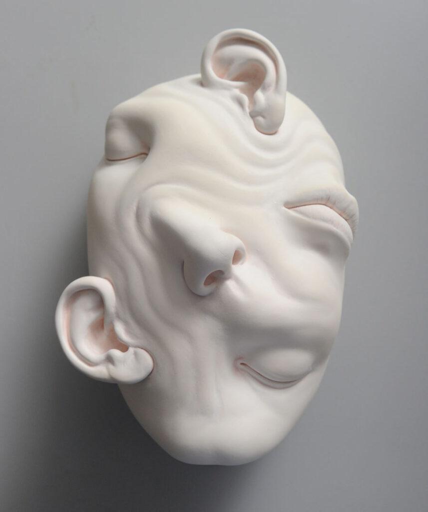 Johnson Tsang surreal face sculpture