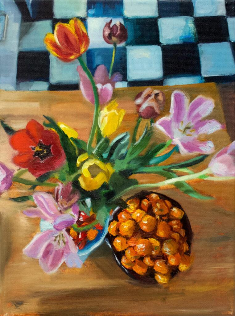 Kaitlyn Stubbs Clementines Flowers Floor