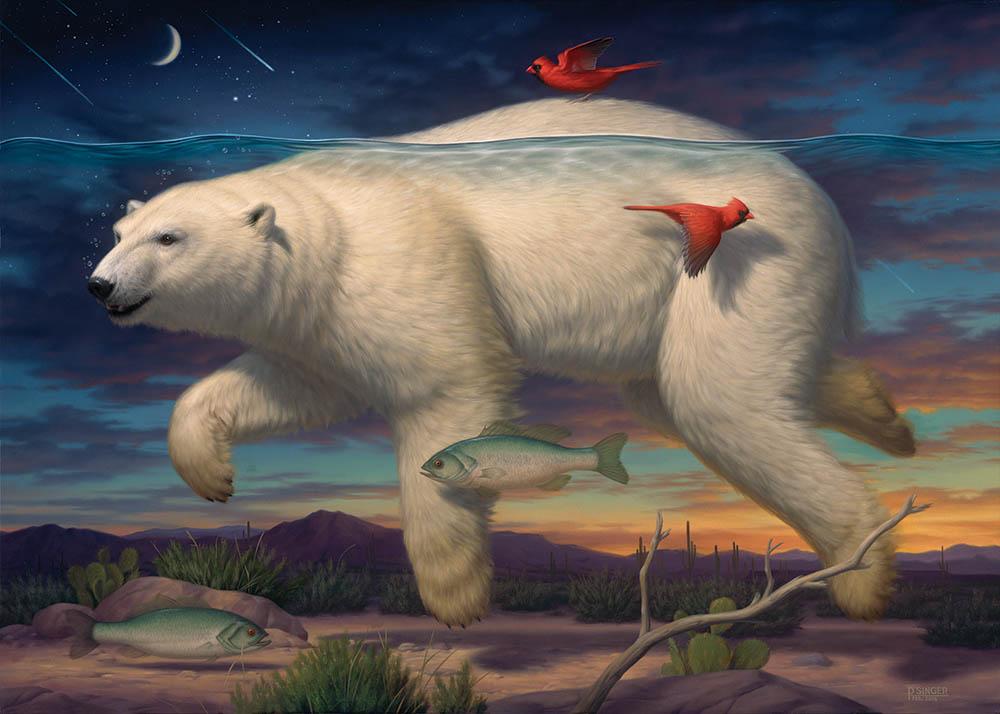 Phillip Singer - surreal polar bear painting