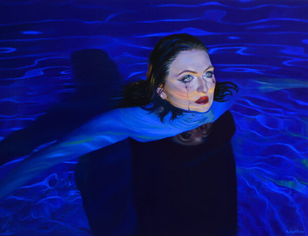 Rachael Bridge blue water crying woman