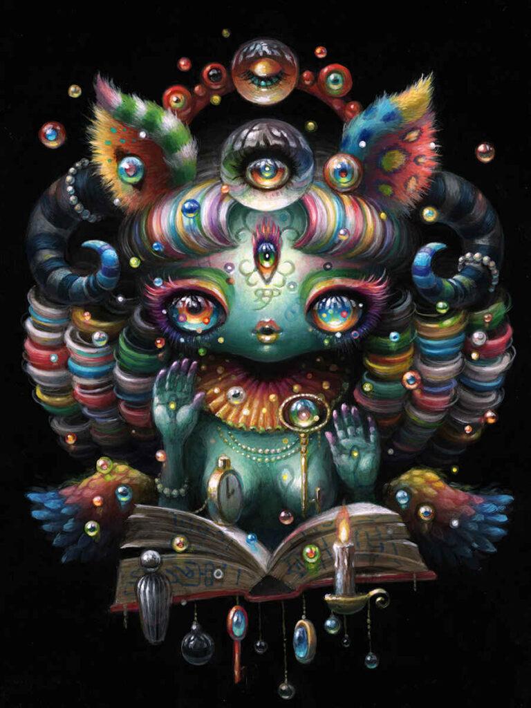 Yoko d'Holbachie magical colourful dream painting