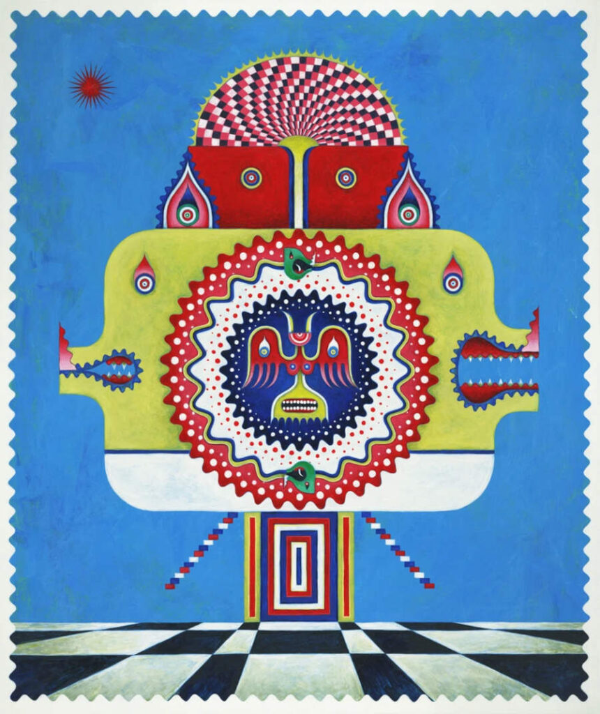 Yu Maeda surreal psychedelic painting