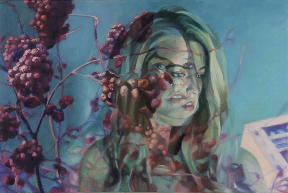 Kaitlyn Stubbs Over Ripe, 24 x 36″, oil on canvas