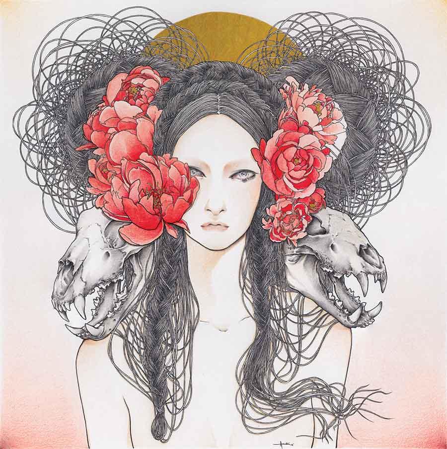 Andi-Soto-dawn-figurative-surreal-drawing skulls
