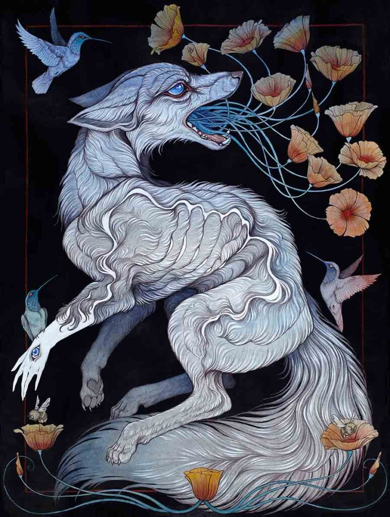 Caitlin-Hackett-Remember-me-surreal-watercolor-painting-fox