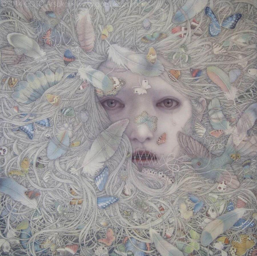 Goto Atsuko Dark Surrealism Painting