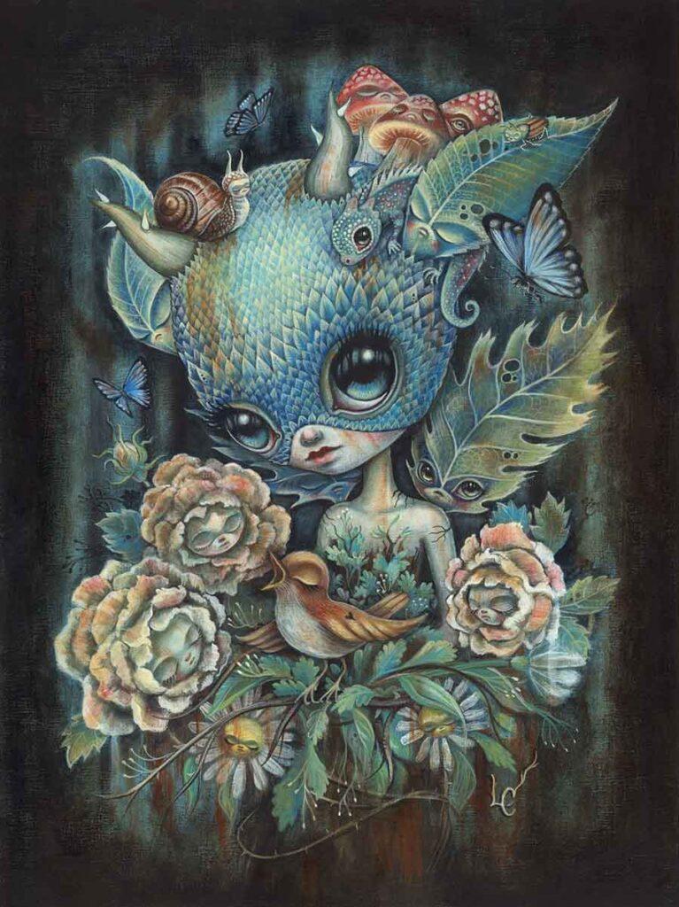 Laura Colours - pop surrealism painting