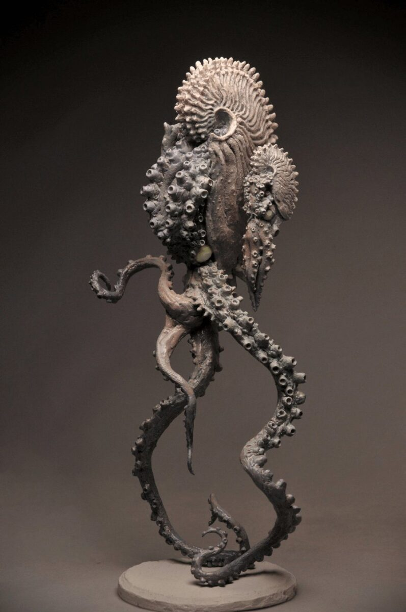 Skink Chen Surreal Figurative Sculpture