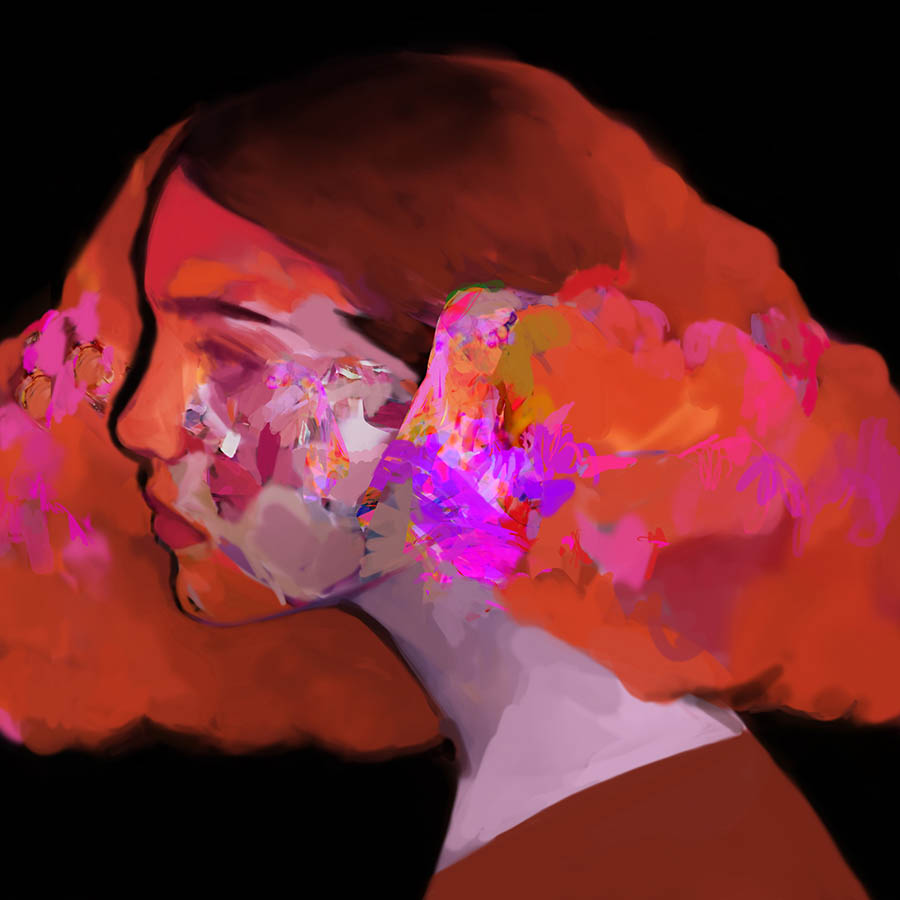 'Jóga', Digital painting/drawing by Blackgoldsun