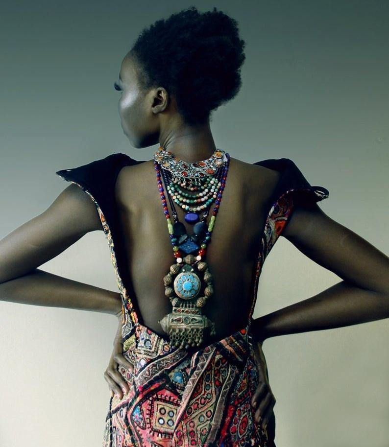 Bird-Skin-Beaded-Statement-Necklace