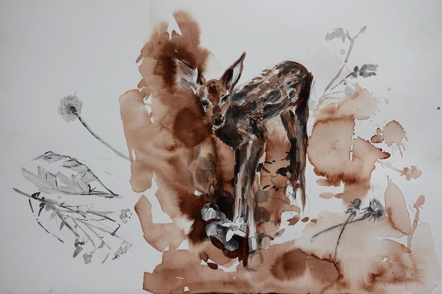 Ekaterina-Popova-Fawn-Watercolor