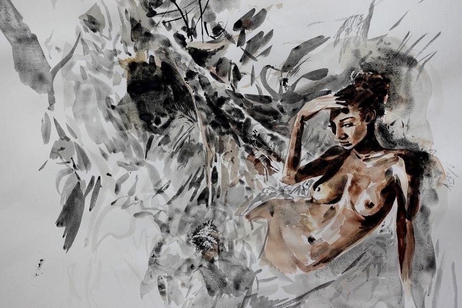 Ekaterina-Popova-Watercolor-Nude