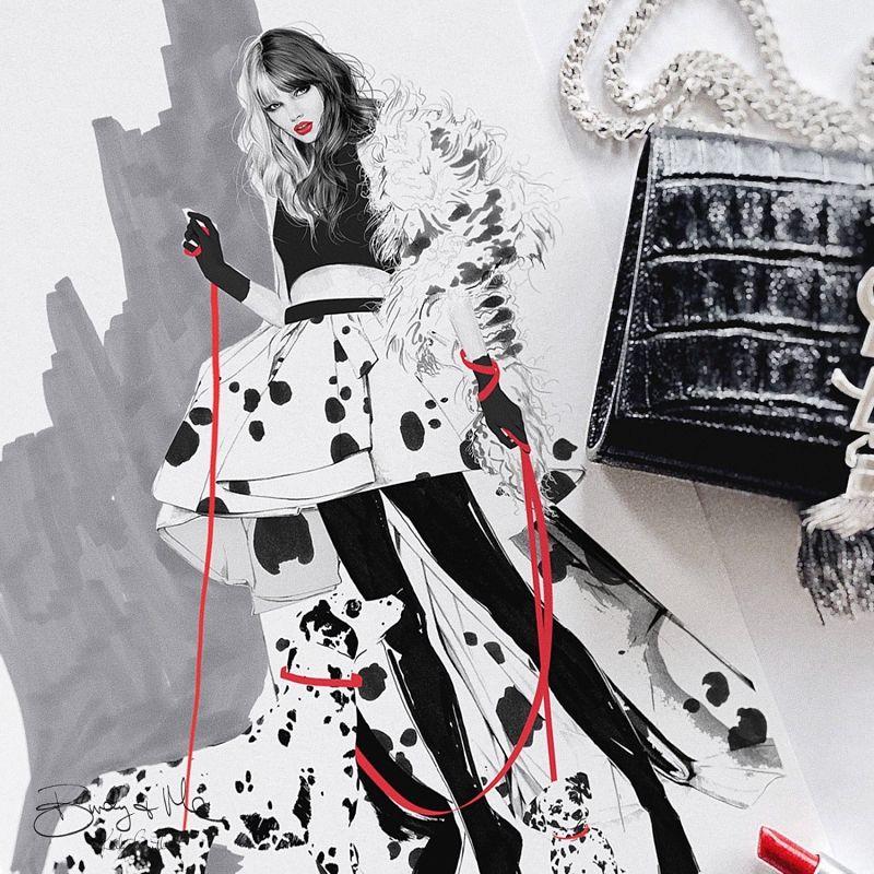 Kelly Smith Cruella fashion illustration