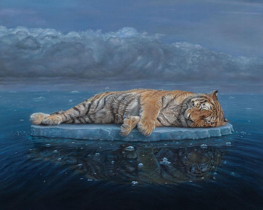 Nicole Evans tiger painting
