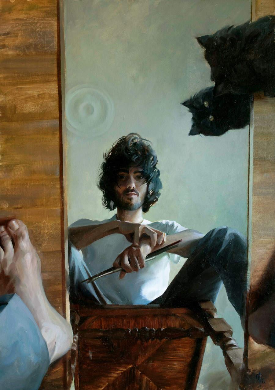 Alexandre-Clair-Self-portrait-with-Kompot