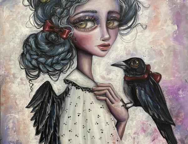 Amanda -Beckham-crow-painting