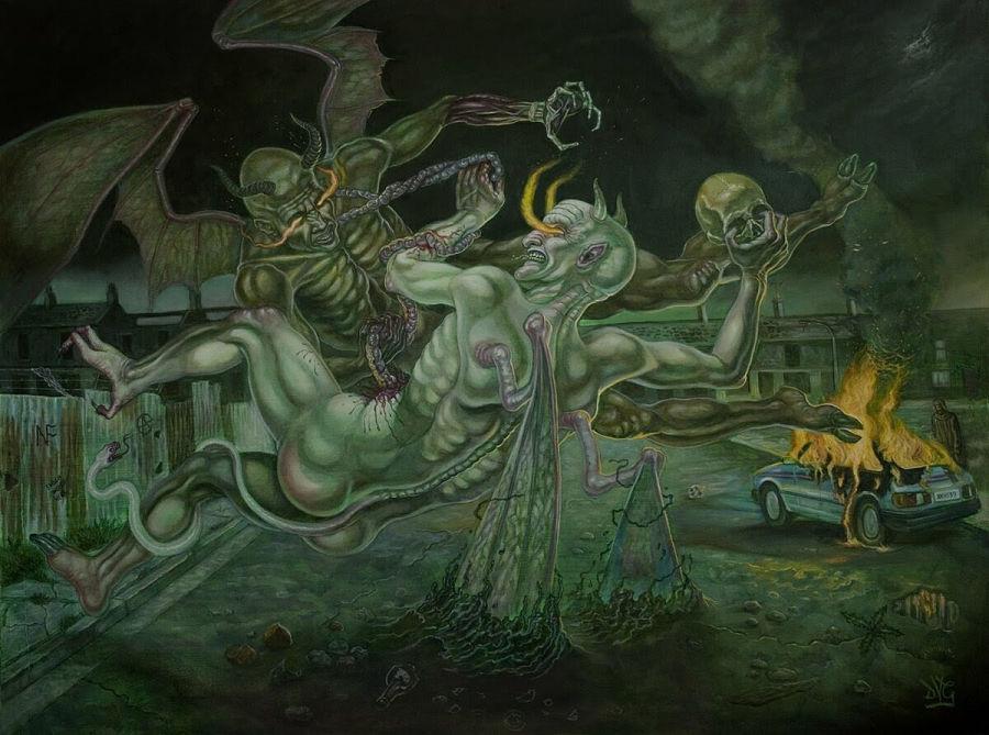 """David Van Gough """"Infernal - The Denouement"""" @ The Dark Art Emporium"""