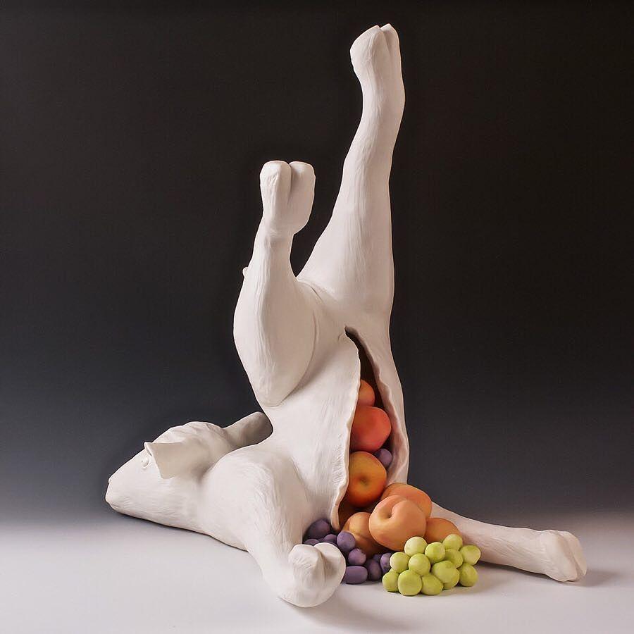 "Lorren Lowrey ""Horn of Plenty"" work in the Beautiful Bizarre Magazine Art Prize"