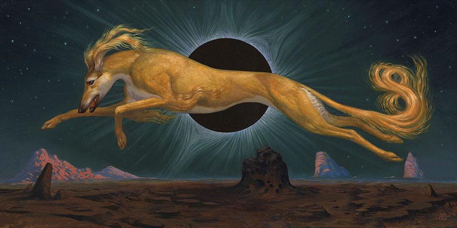"Kristin Kwan - painting The Threshold, 2021 Oil on wood panel, 12 x 24"""