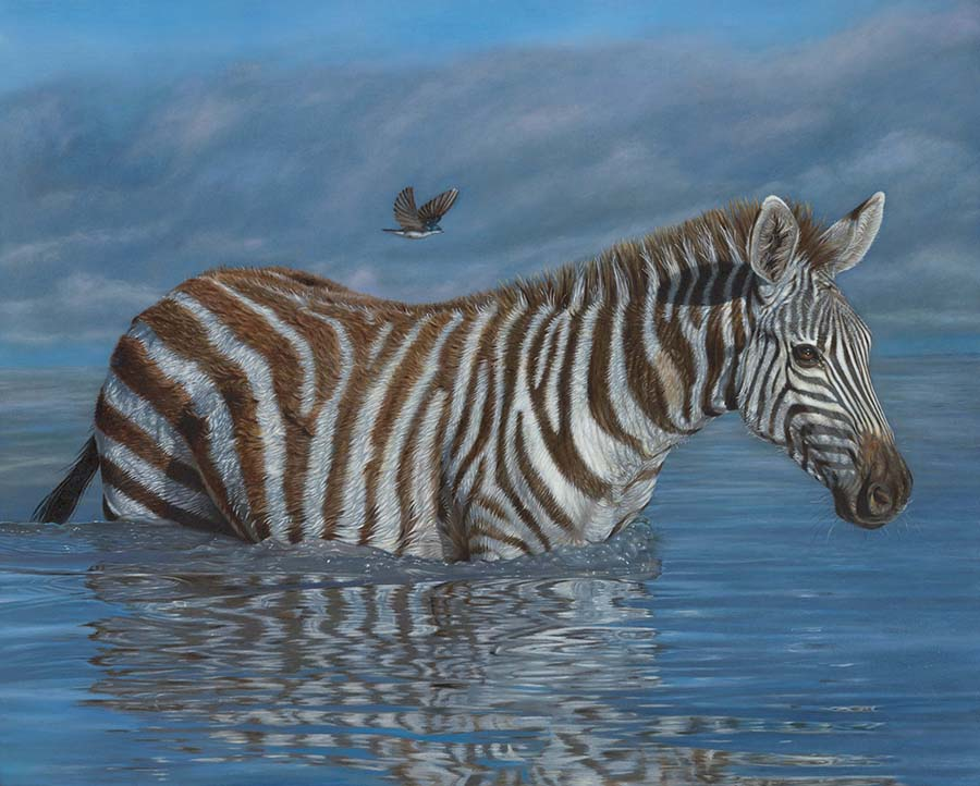 "Nicole Evans - painting Migration, 2021 Oil on cradled wood panel, 15.7 x 19.7"""