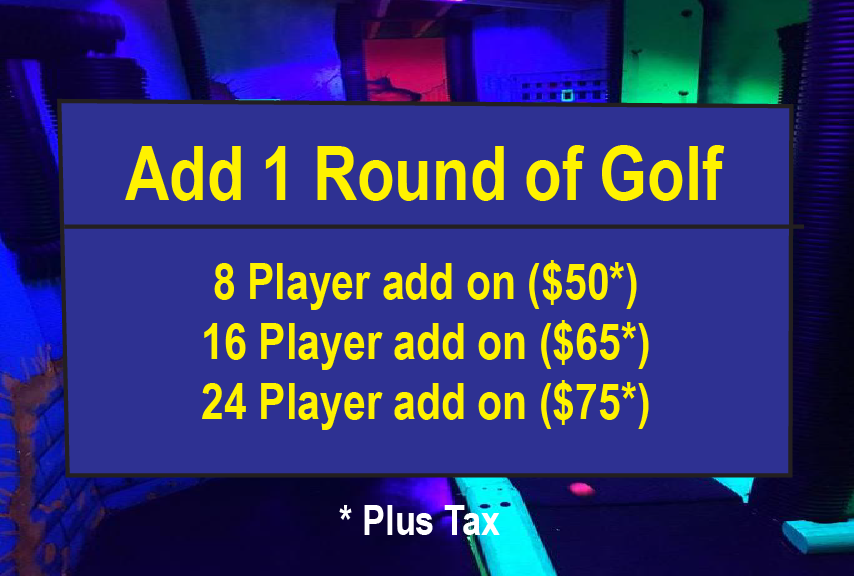 *Round must be played 1 hour prior to party time or following 2nd laser tag game at the end of party.