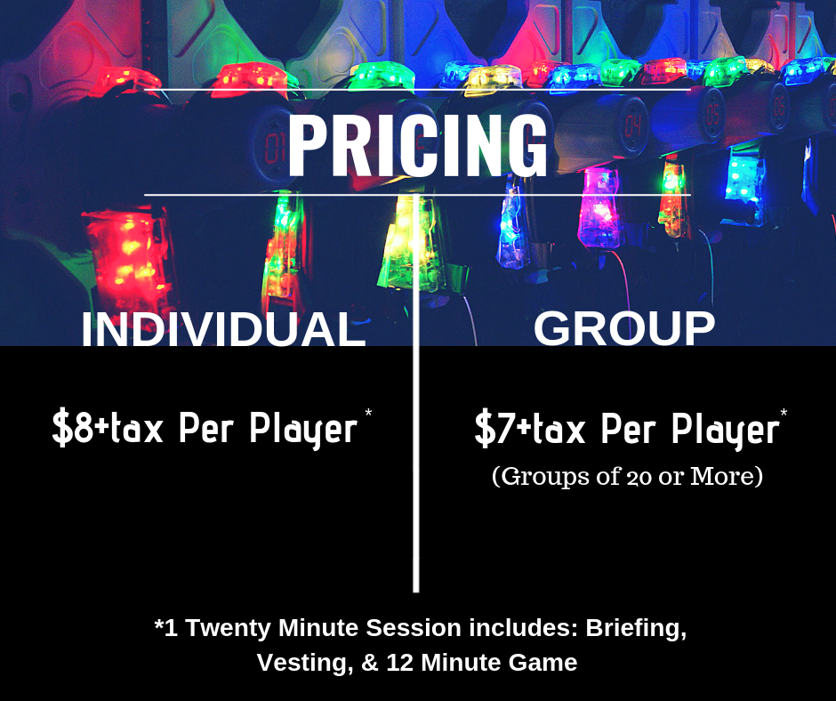Pricing-Laser Tag