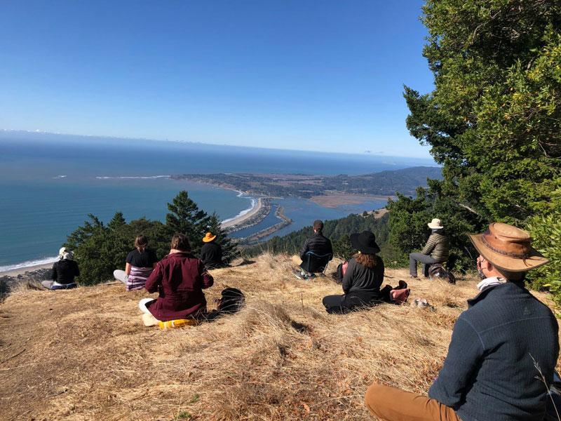 Meditating in Marin
