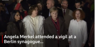 WATCH: Merkel attends vigil at German synagogue where attack took place