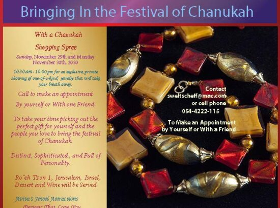 Bringing in the Festival of Chanukah, Aviva's Jewel Attractions – 29/30 of November