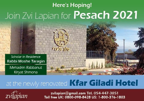 Join Zvi Lapian for Pesach 2021