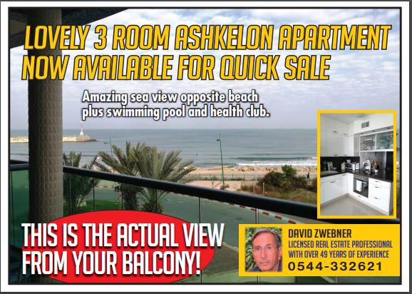 Ashkelon property – 3 bed apartment for sale