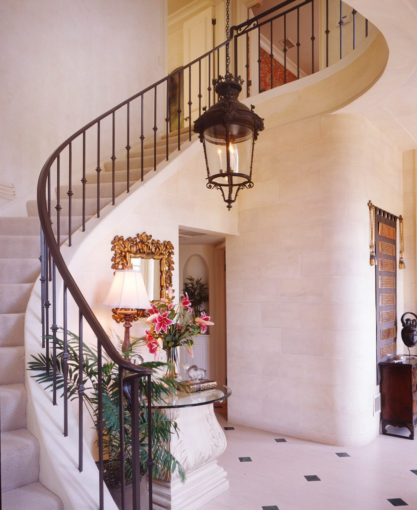 Malaga Cove Foyer Staircase by KeyVision Interiors