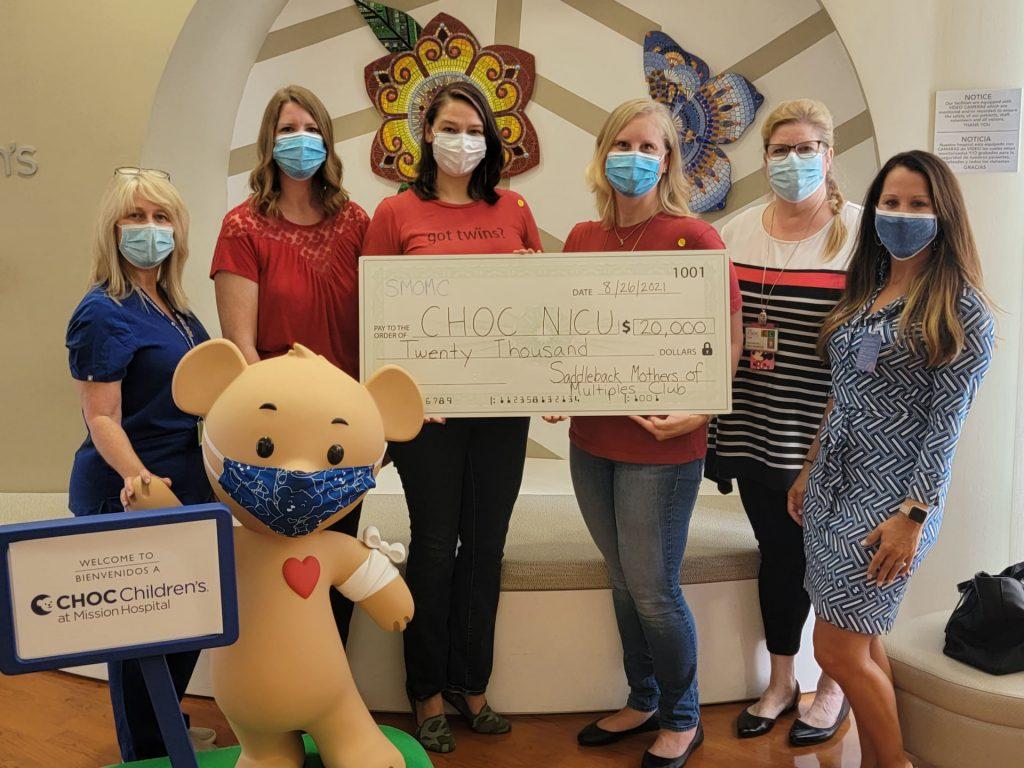 SMOMC Presents CHOC NICU with $20,000 Donation