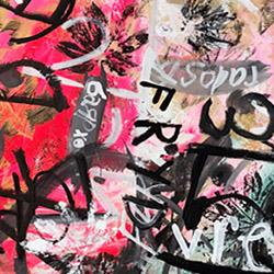 hot pink thumbnail Moira Cue painting