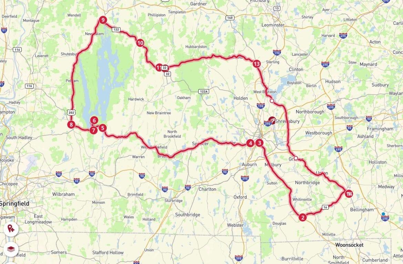 Quabbin Reservoir Loop Ride