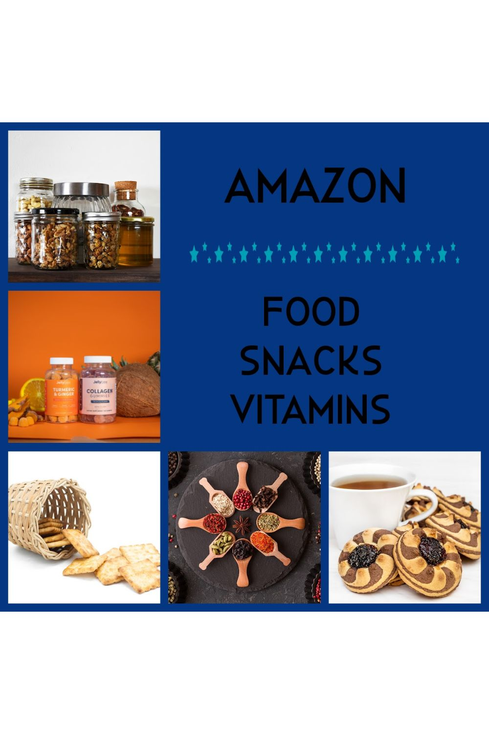 Amazon Shopping for your Vitamins, Snacks, and Food!