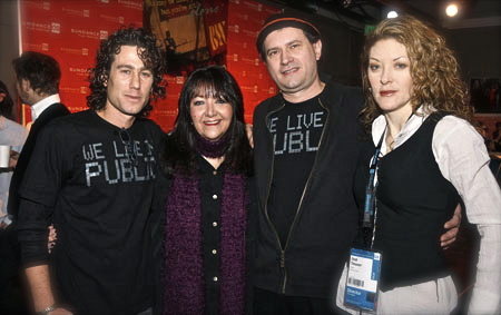Ben Decter pictured with BMI's Doreen Ringer-Ross, co-composer Marco D'Ambrosio and director Ondi Timoner.