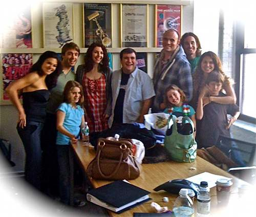 The cast of Ben Decter & Kristin Hanggi's musical, Touched, following an NYC workshop.