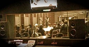 Composer Ben Decter conducts a session of ABC's OFF THE MAP