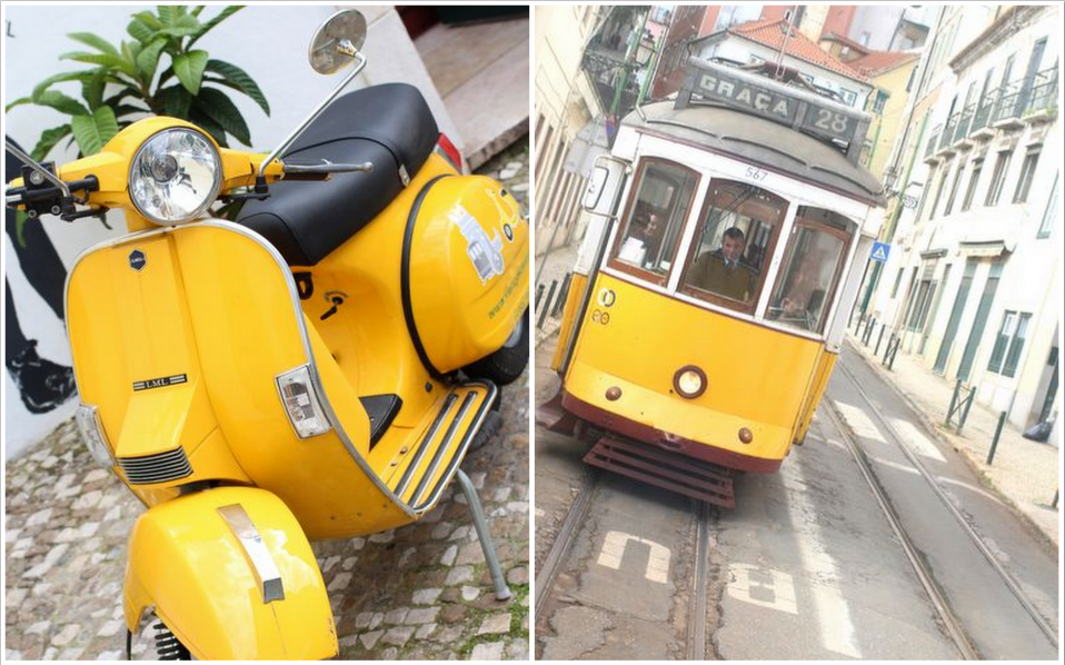 lisbon by trolley & vespa