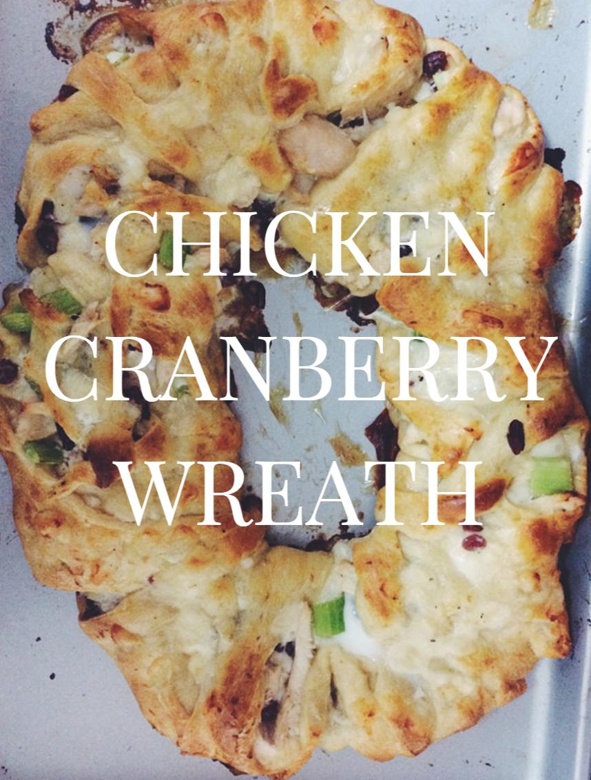 chicken cranberry wreath