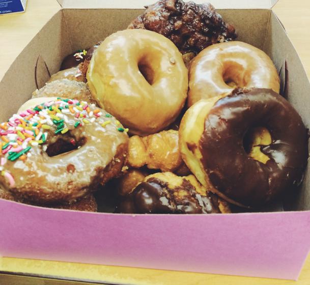 birthday dinner + donuts